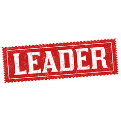 leader sign or stamp vector image