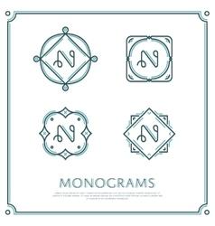 Letter N Monogram vector image