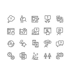 line ui and ux icons vector image