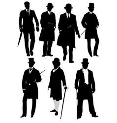 london gentleman in hat vector image
