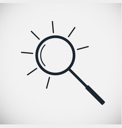 Magnifier line icon vector