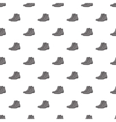 Men winter boot pattern cartoon style vector