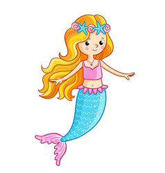 Mermaid on a white background vector
