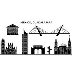 Mexico guadalajara architecture urban skyline vector