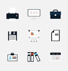 Modern icons collection of business elements vector