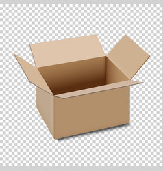 Open carton box icon isolated on transparent vector