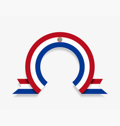paraguayan flag rounded abstract background vector image