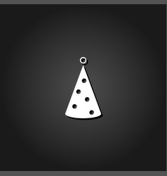 party hat icon flat vector image