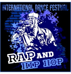 Rap hip hop graffiti - poster vector image