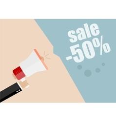 Sale promotion concept hand holding megaphone vector image