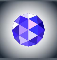 Sapphire gem jewel icon vector