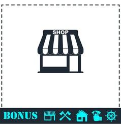 Shop icon flat vector