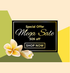 shop now mega sale garden tropical plants vector image