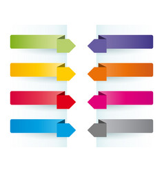 simple colorful banners as bookmarks vector image