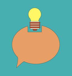 Speech bubble and lamp idea doodle cute miniature vector