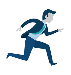 successful businessman running avatar character vector image