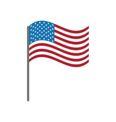 united states flag isolated icon design vector image