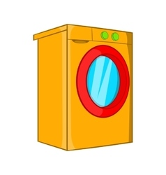 Washer icon cartoon style vector