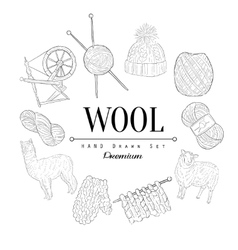 Wool Vintage Sketch vector