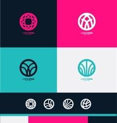 Abstract circle sign logo icon vector image vector image