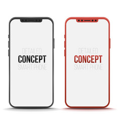 set of conceptual smart phone mock up vector image vector image