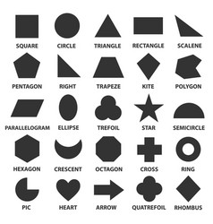 simple geometric shapes vector image vector image