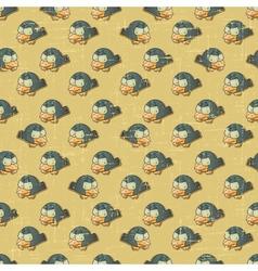 Vintage cartoon birds Pattern vector image vector image