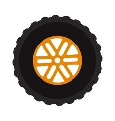 Car wheel cartoon flat on vector image vector image