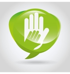 collaborative hands design vector image