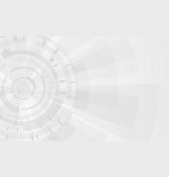 gray technology background gears and futuristic vector image vector image
