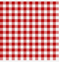 red checkered texture restaurant seamless pattern vector image