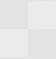 trendy modern techno white geometric vector image