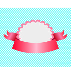 baby girl candy invitation template with white vector image