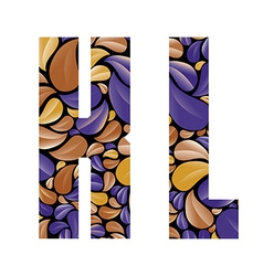 Beautiful floral alphabet letters K and L vector image vector image