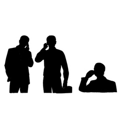 Businessman using a mobile phone vector