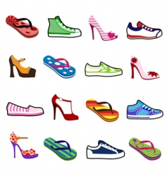shoes for man and woman vector image vector image
