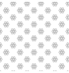 unique digital honeycombs seamless pattern with vector image vector image