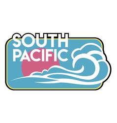 vintage surf badge vector image vector image