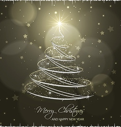 Christmas tree on abstract background vector image
