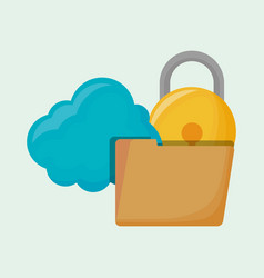 cloud storage design vector image