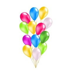 Colorful balloons pack vector image