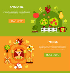 farming and gardening banners vector image vector image