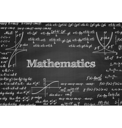 Mathematical seamless pattern on blackboard vector image vector image