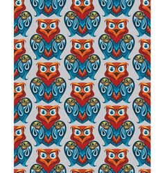 owl pattern vector image