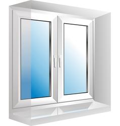 Plastic window vector
