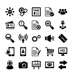 seo and digital marketing glyph icons 11 vector image vector image