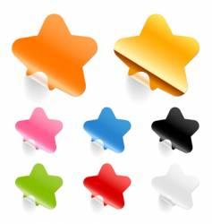 stars stickers vector image vector image