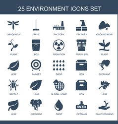25 environment icons vector