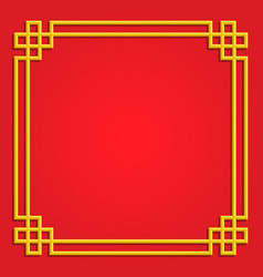3d chinese pattern frame border art china style vector