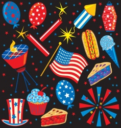 4th of July icons vector